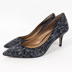 Banana Republic Tweed Career Pumps Heels 6 Black